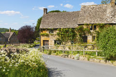Holiday stone cottages in English countryside village Royalty Free Stock Photos