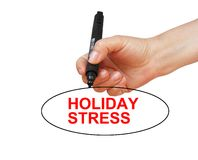 Holiday stress. Word written on isolated white background Stock Photography