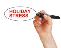 Holiday stress Stock Images
