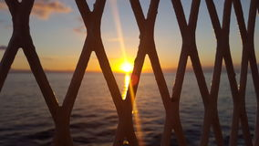 Holiday. Stunning sunset in sardegna on the ferry stock image
