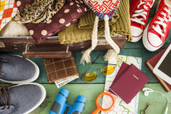 Holiday suitcase Stock Images