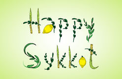 Holiday Sukkot, congratulation Stock Images