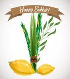 Holiday of Sukkot  illustration. Royalty Free Stock Photos