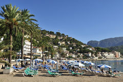 Beach in Port de Soller Royalty Free Stock Images