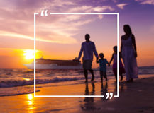 Holiday Summer Vacation Frame Pattern Concept Stock Image