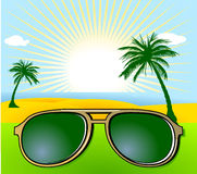 Holiday and sunglasses Stock Image