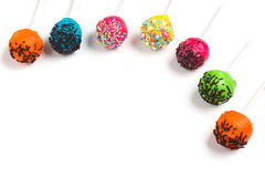 Holiday sweets. Cakepops Stock Photos