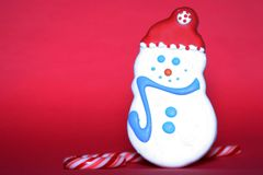 Holiday Sweets Red Background Royalty Free Stock Photo