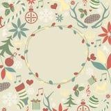 Holiday symbols christmas card Stock Photo