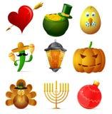 Holiday symbols Stock Photo