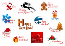 Holiday symbols and tags Royalty Free Stock Image