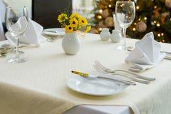 holiday table Στοκ φωτογραφία με δικαίωμα ελεύθερης χρήσης