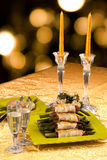 Holiday Table With Appetizers Royalty Free Stock Image