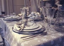 Holiday table  decorations Stock Image