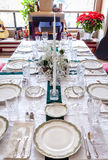 Holiday table Stock Photos