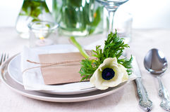 Holiday table setting royalty free stock photography
