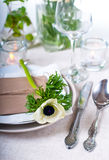 Holiday table setting Stock Images