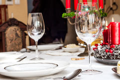 Holiday table setting Stock Image