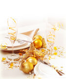 Holiday table setting Stock Photography