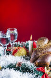 Holiday table setting Stock Photos