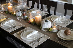Holiday Table Setting royalty free stock photo