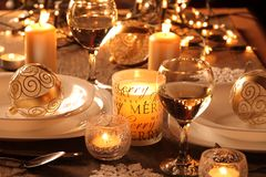 Holiday table Stock Photography