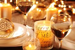Holiday table Stock Images