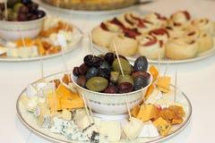 Holiday table with treats Stock Photo