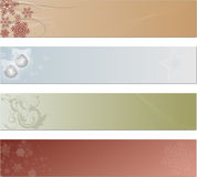 Holiday Tags or Banners Stock Image