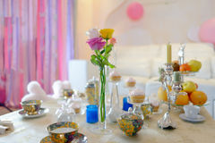 Holiday tea party Stock Images