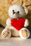 Holiday Teddy Bear and Christmas Gift Stock Image