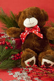 Holiday Teddy Bear Royalty Free Stock Images