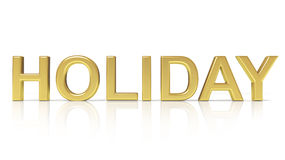 Holiday text. Isolated on white background Royalty Free Stock Photos
