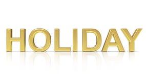Holiday text Royalty Free Stock Photos