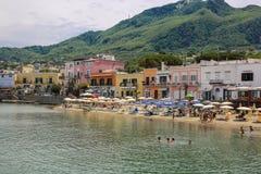 On the beach. Island Ischia. Italy. Holiday on the thermal spa Island Ischia. Italy. On the beach Stock Image