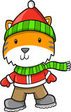 Holiday tiger Vector Illustration Royalty Free Stock Photography