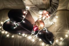 Holiday, tights glow. New year mood Stock Photo