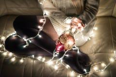 Holiday, tights glow stock photo
