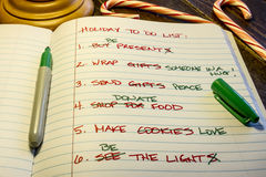 Holiday To Do List Royalty Free Stock Photography
