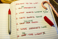 Holiday To Do List Royalty Free Stock Images