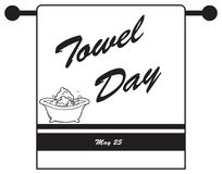 Holiday - Towel Day Royalty Free Stock Photography