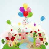 Holiday town Royalty Free Stock Photos