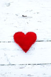 Holiday toy in form of heart Royalty Free Stock Photo