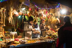 Holiday trading on the Main Market Square in Krakow Stock Photo