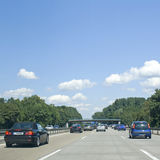 Holiday, traffic in europe. Holiday traffic in Europe. Autobahn Royalty Free Stock Photography
