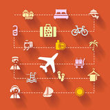 Holiday travel. Abstract illustration with holiday travel Royalty Free Stock Image