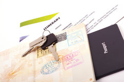 Holiday travel documents Royalty Free Stock Images