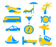 Holiday Travel Icon Graphics Stock Photography