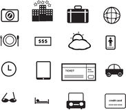 holiday and travel icons Royalty Free Stock Image