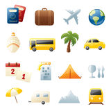 Holiday Travel Icons Royalty Free Stock Photos